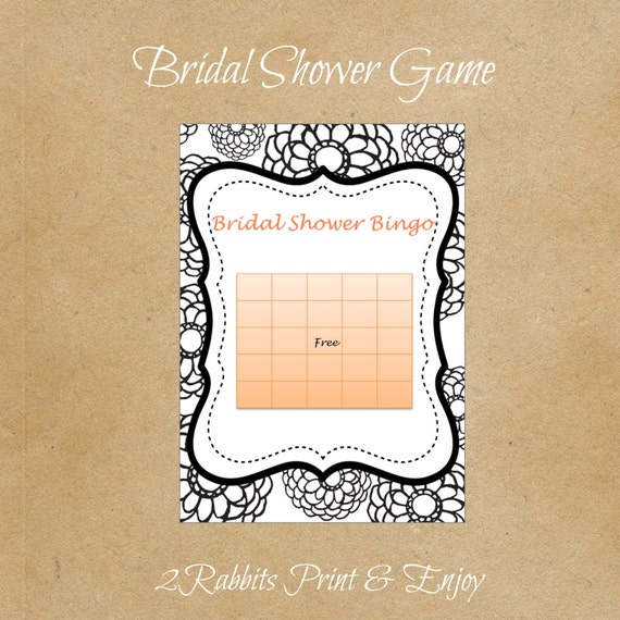 Bridal Shower Gift Greetings : Bridal Shower Bingo Gift Cards Wedding Bridal Shower Bingo Card Game ...