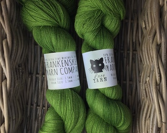 Solid: Extra Fine Merino & Silk Lace weight - Lush