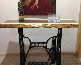 Black Walnut Singer Sewing Machine Table
