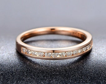 18K Rose Gold Diamond Ring/Bride Ring/Wedding Band Ring, Engagement Ring  Ask a Question