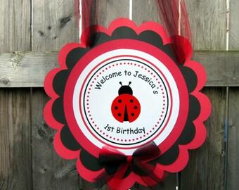 Ladybug Birthday Party Sign