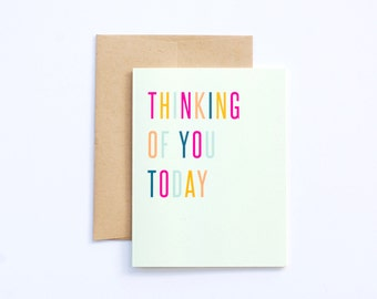 Thinking of you card Folded Card - A2