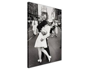 Famous Black And White Iconic Sailor Kissing Nurse on Canvas Wall Art Prints Home Decoration Framed Pictures Ready To Hang Images Posters