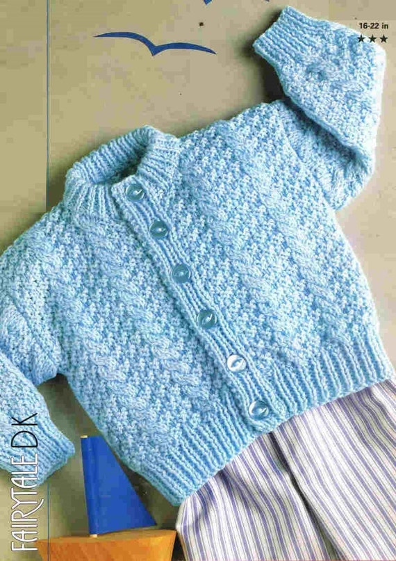 Knitting Patterns Hats For Beginners : baby jumper vintage knitting pattern PDF instant download