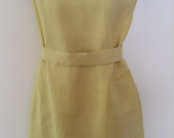 Vintage Yellow Linen Dress