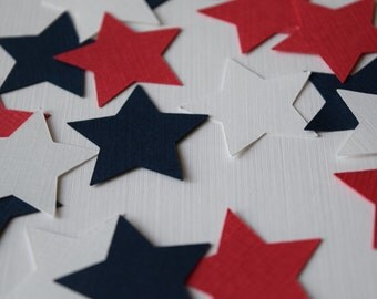 Star Confetti, Military Wedding, Star Confetti, Red White Blue, Patriotic Confetti, Campaign Decorations, Campaign Colors, 4th of July
