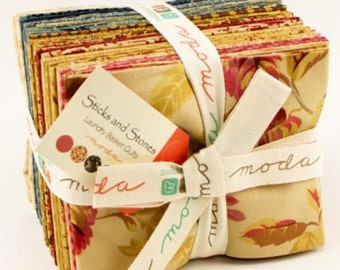 TODAY ONLY! Moda Sticks and Stones Fat Quarter Bundle by Laundry Basket Quilts