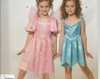 Fairy Costume, Simplicity 4917 Pattern, Girl's Size 3 to 8, Dance Dress, Angel Wings, Halloween Costume, Dressup, Sewing Supplies