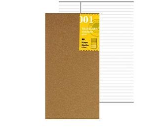 Notebook 001 genuine Traveler's Notebook Midori Notebook Lined Notebook 001