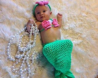 Baby Mermaid Costume set.