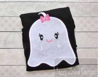 Girl Ghost 71 Applique Design
