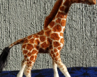 African Giraffe Needle Felted Wool Animal by Carol Rossi Created Just For You!