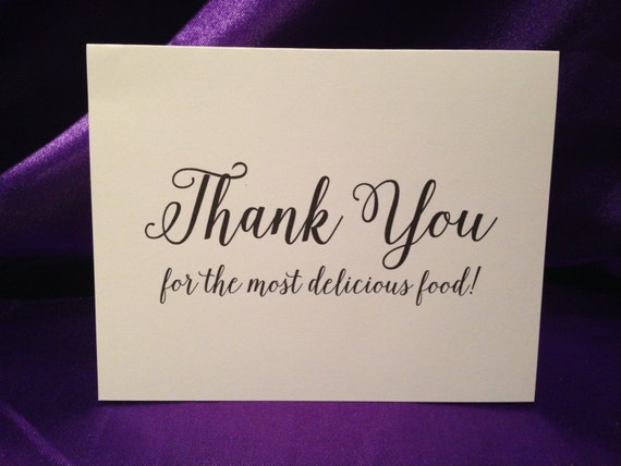 Wedding Cards For Wedding Caterer Thank You For The Most