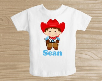 Personalized Cowboy Baby Bodysuit for Boys - Cowboy Infant Creeper - Baby Boy Personalized Bodysuit or T-Shirt - Customized One Piece