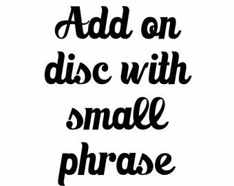 Add a tag (short phrase)