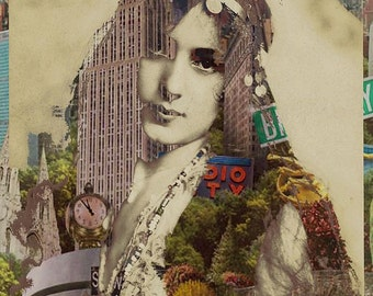 Vintage Woman Built By New York City 1 Giclee Print