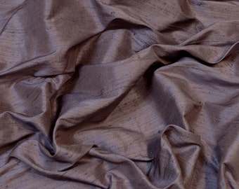 "Iridescent Aubergine Purple Dupioni Silk, 100% Silk Fabric, 54"" Wide, By The Yard (S-275)"
