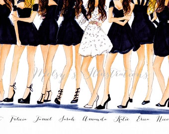 The Bachelorette (Fashion Illustration Print)