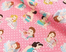 Glamping - Glamour Girls (Pink) - Mary Jane Butters - Moda Fabrics