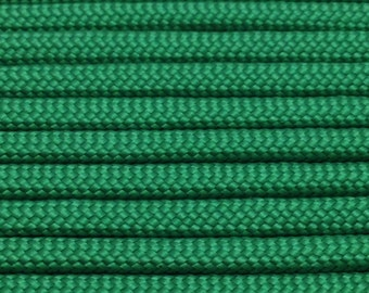 550 Paracord 100ft Kelly Green Type III Commercial 7 Strand Nylon Rope Cord USA Made Parachute Cord Free Shipping - Use w bracelets lanyards