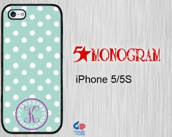 iPhone 5S Monogram iPhone 5S iPhone 5 Monogram Personalized iPhone 5s  monogram iPhone 5S Personalized iPhone 5s Monogram iPhone  Polka Dots