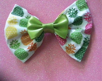Preppy Pineapple Fabric Bow