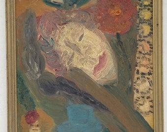 c.1930's - 1940's Post-Impressionist Oil Painting