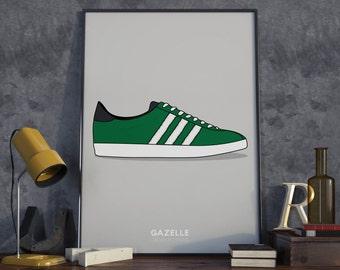 Adidas Gazelle Poster, A3 or A4. Adidas.