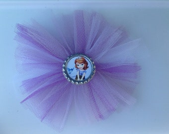 Sophia the First Princess Tulle Hair Bow. You choose the image.