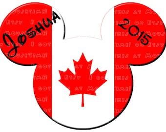 IRON-ON O Canada Ears! - Mouse Ears Tshirt Transfer