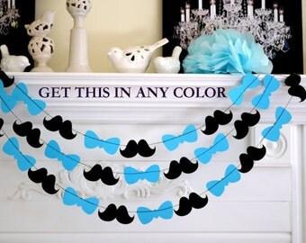 tie decoration bow tie garland mustache banner bowtie decorations