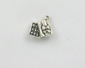 Sterling Silver 3-D Box of Chocolates Charm