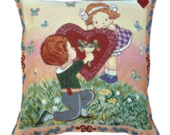 I Love You Tapestry Cushion Cover - 50x50cm