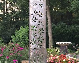 Clematis Clematis and Hummingbird Garden Panel