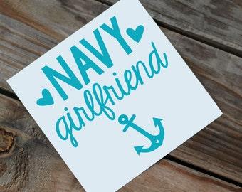 Navy Girlfriend Decal | Wife | Mom | Sister | Etc.