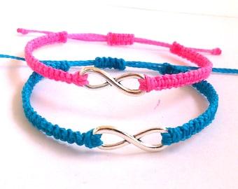 Infinity Bracelet, Macrame Bracelet  with an Eternal Love Symbol Charm, Friendship bracelet