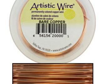 Artistic Wire Bare Copper 22ga - 15yd Spool  (WR33522)