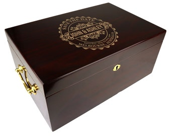 Personalized Humidor The Tuscany 100-120 Capacity, Wedding Gift [DEC-002]