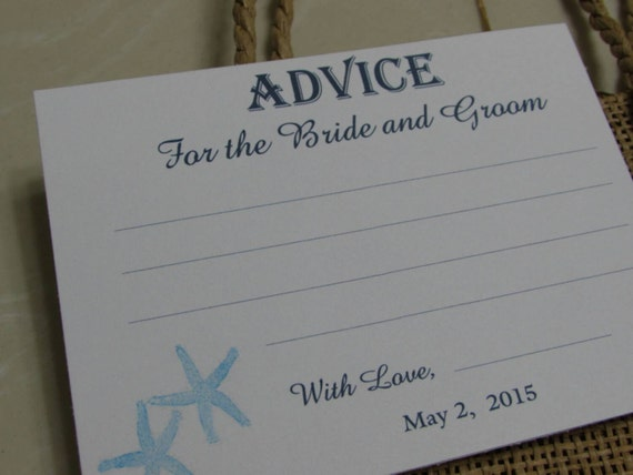 Advice Card For The Bride And Groom You Design Your Choice
