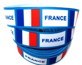 France Grosgrain Ribbon by the yard for hair bow, embellishment, trim, scrapbooking, gift wrapping