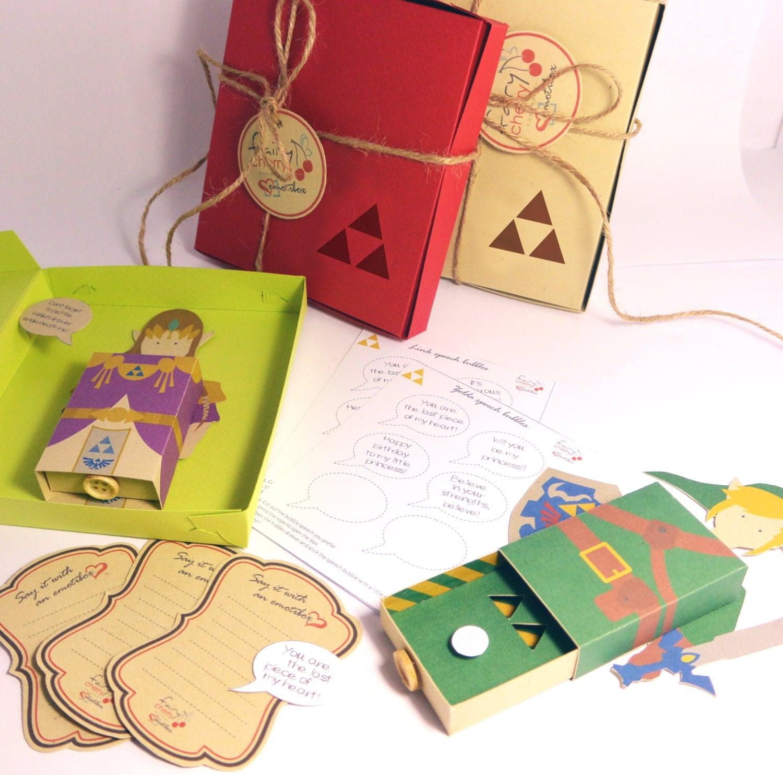 Zelda Link Emotibox Fridge Magnet Geek Card By FairyCherry