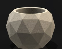 Geodesic Sphere Mold Set - Reusable Molds - Sizes S-L - Now available in 3 sizes!! Concrete Mold, Geometric Planter