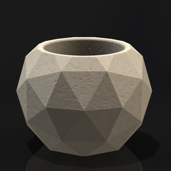 Geodesic Concrete Planter: Geodesic Sphere Mold Reusable Mold Sizes S-L Now By BoldPrints