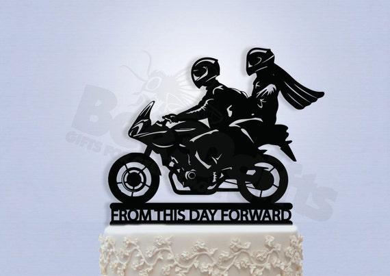 Biker Couple Cake Topper
