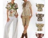 Burda Sewing Pattern 7834 Misses' Blouse Size:  6-8-10-12-14-16  Uncut