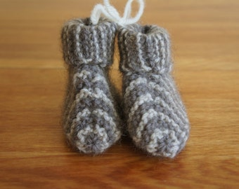 Possum Wool Baby Booties (Hand Knitted)