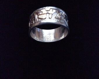 unique design 925 sterling silver 12k goldfilled navajo ring size 9