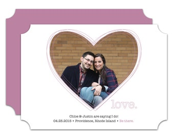 Wrapped in Love Save the Date - 50 Count