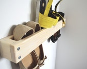Shoe storage organizer shelf pairs shoe  simple functional hand made