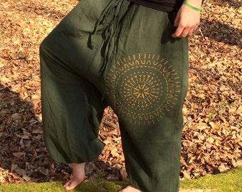 mandala bloomers, pixie, steam, festival, goa, hippie, ethno, boho, gypsy, yoga, meditation